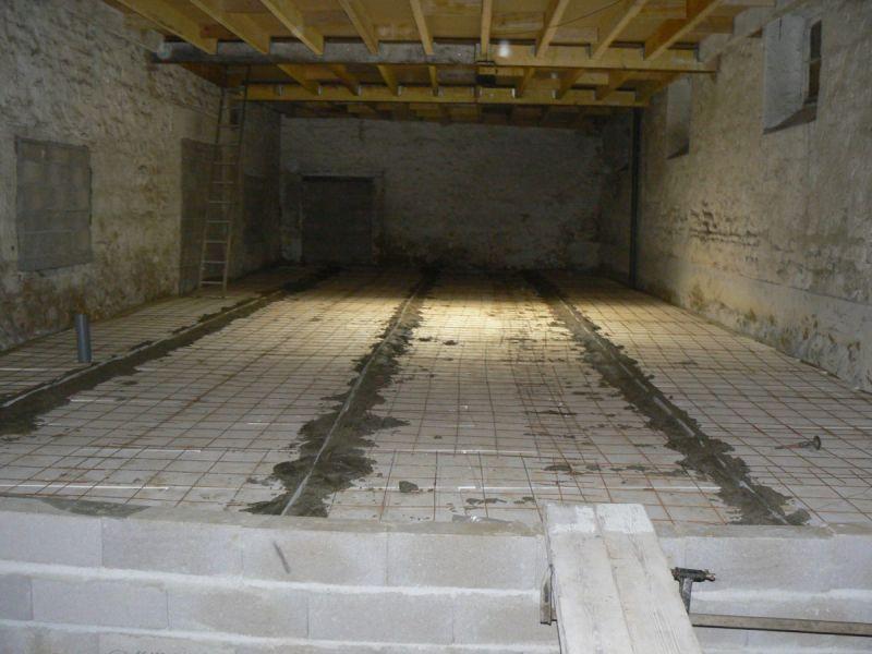 Pr paration de la dalle r novation d une grange - Pose joint de dilatation dalle beton ...